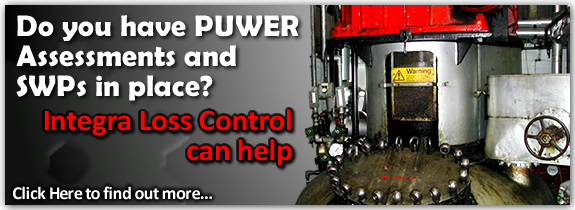 PUWER assessments are a good way to ensure the safety of operators and others - integra loss control associates can help you with your machinery or production line equipment.