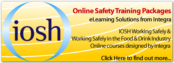 Integra have developed an elearning solution, based on the IOSH Working Safely training scheme. Following the same modules, but with materials from Integra, the Working Safely eLearning course is an extremely effective way to train your workforce. Integra have also developed a Working Safely in the Food and Drink Industry training package - this includes a module specific to the food and drink industry. The module includes key safe behaviours for employees in the industry and is based on Integra's extensive experience in managing safety in the food and drink industry.